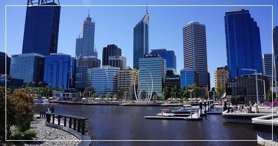 Ville de Perth, capitale de l'Australie-Occidentale