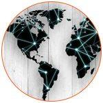 Illustration mappe monde